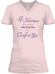 RV Lifestylers Womens Comfort Zone V-neck Tee