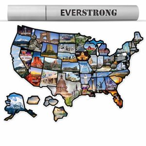 US Map and Stickers for RVers