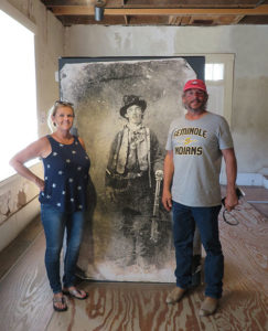the milners posing with billy the kid photo