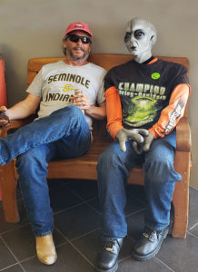 Roswell NM Harley dealership alien host