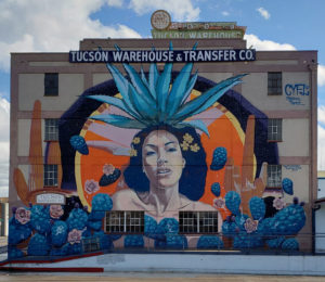 Tucson warehouse and transfer company wall mural