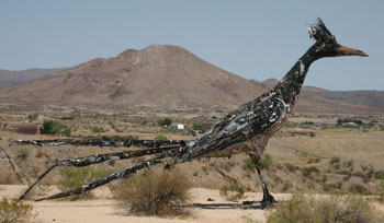 Las Cruces, New Mexico giant metal roadrunner